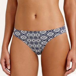 J. Crew NWT Indigo batik bikini swim bottom sz L